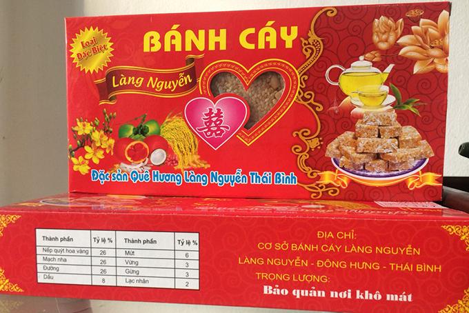 Bánh cáy làng Nguyễn - đặc sản quê lúa Thái Bình