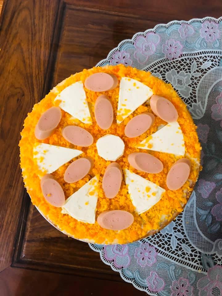 Công thức làm Bánh bông lan trứng muối sốt phô mai bơ trứng