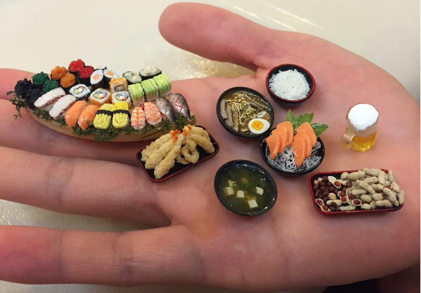 Độc đáo bàn tiệc Nhật Bản mini trong lòng bàn tay