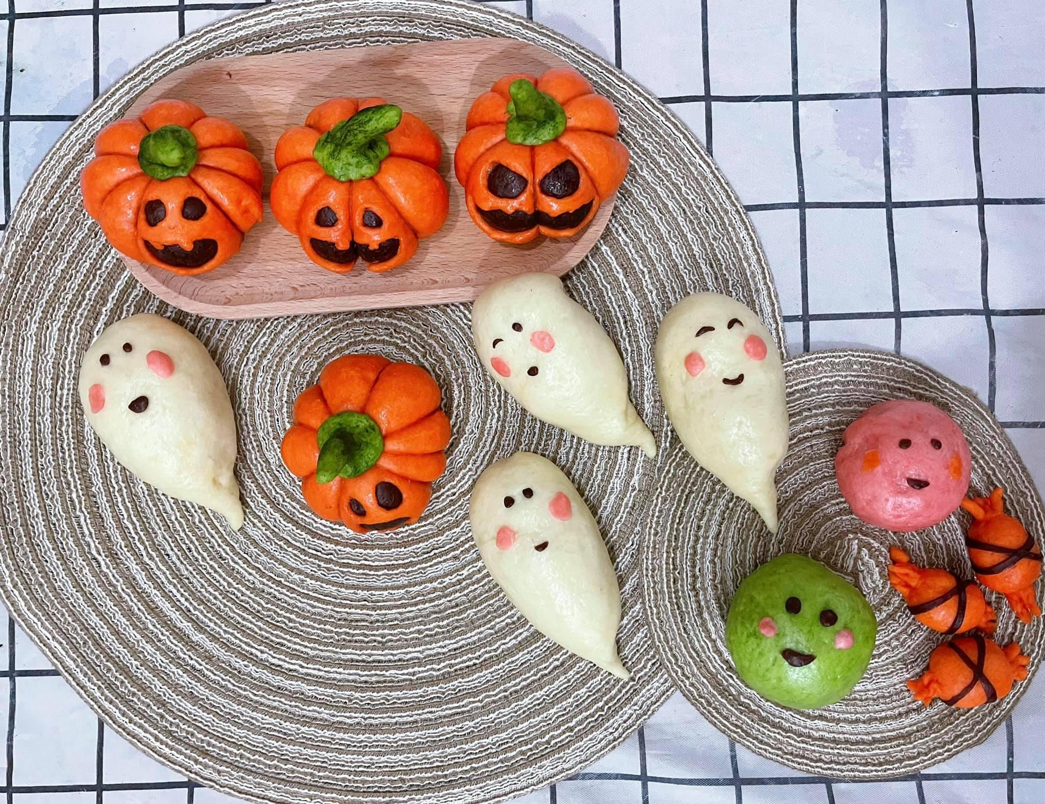 Độc đáo bánh bao hình bí ngô chào đón lễ hội Halloween