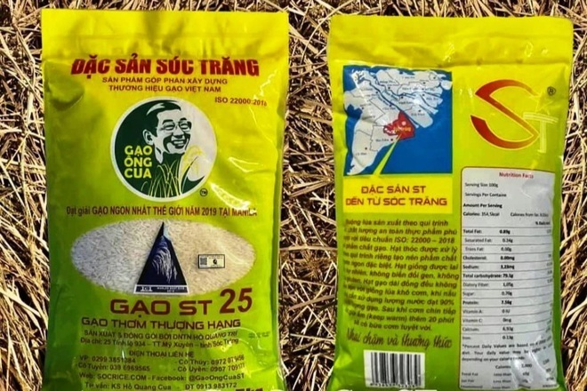 Gạo ST25 ngon nhất thế giới của ông Hồ Quang Cua liên tục bị làm giả dù đã in hình chính chủ