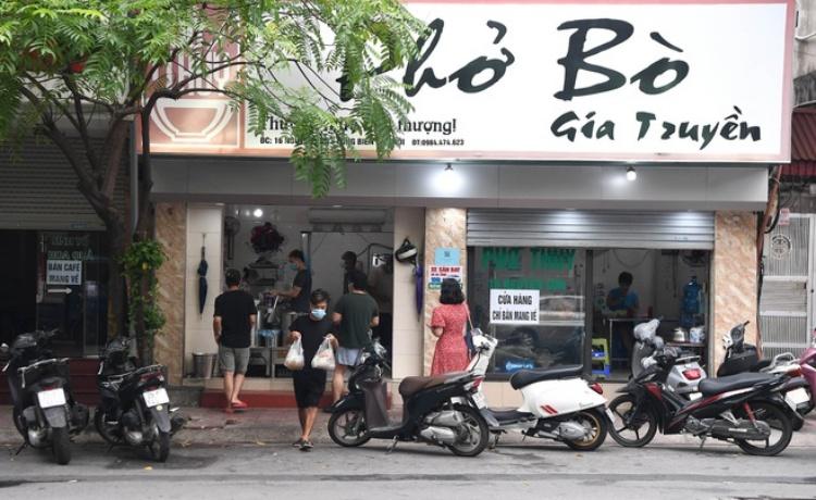 Hà Nội: Cho phép hàng quán ăn, văn phòng phẩm bán mang về từ 12h ngày 16/9