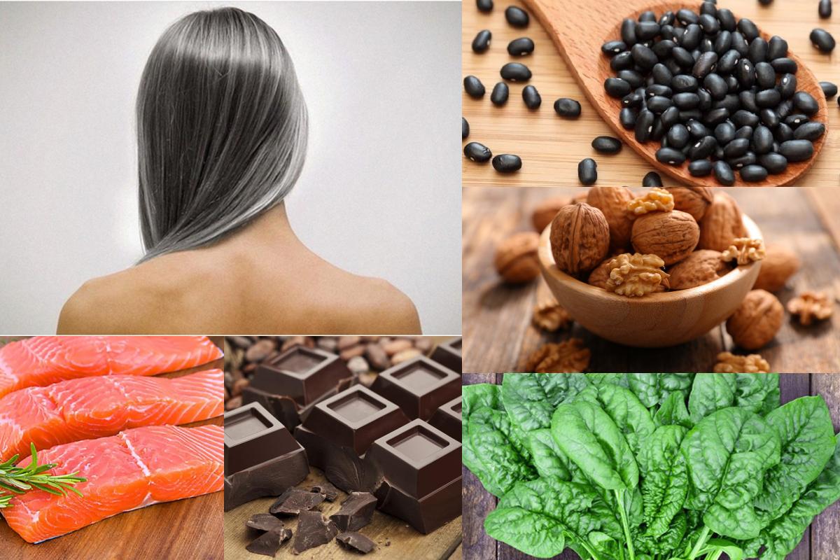 Tóc bạc sớm nên ăn gì? Uống gì? Nhóm thực phẩm giúp tóc đen mượtlâu dài