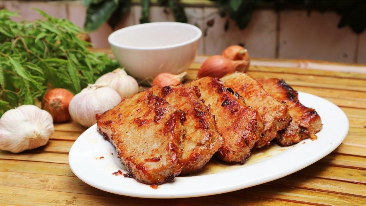 Thịt thăn lợn áp chảo hương vị thơm ngon